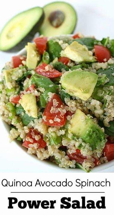 Mixed salad with sprinkles of quinoa. Topped with lemon/lime oil (olive and Udo's Oil) spicy dressing and sea salt. Full of vitamins A B C E K.... 80 trace minerals... healthy fats... omega 3/6/9's...