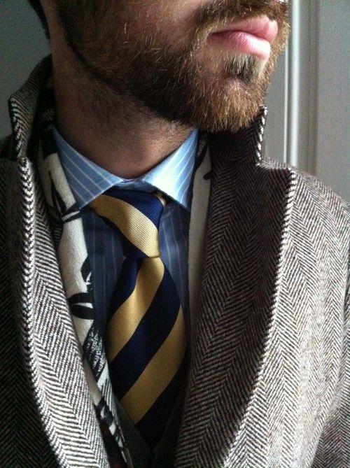 striped silk tie rugby men style