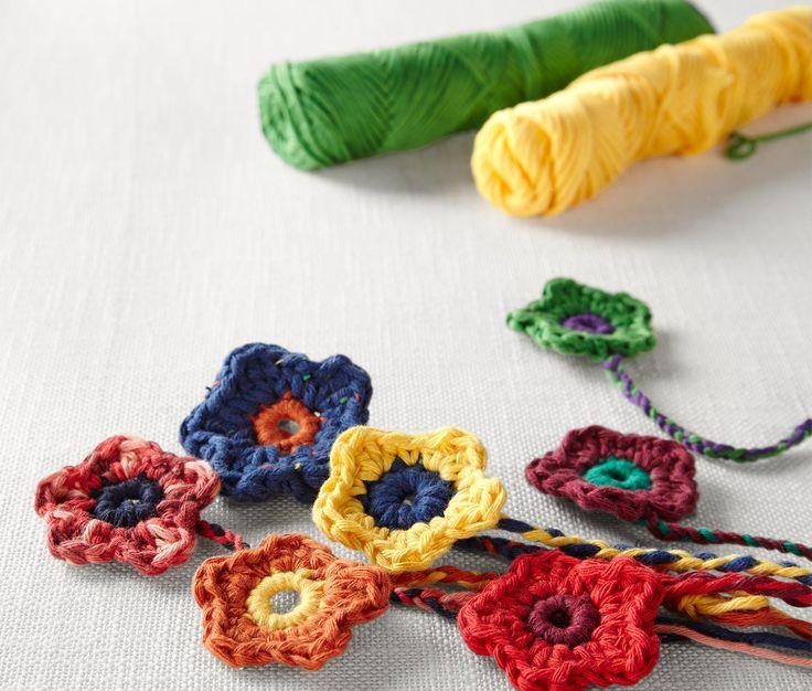 Sada háčků na háčkování, DIY crocheted flowers