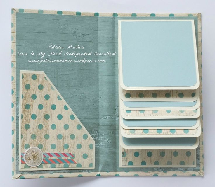 LOVE! CTMH Mini Folio Album - inside, by Patricia Manhire