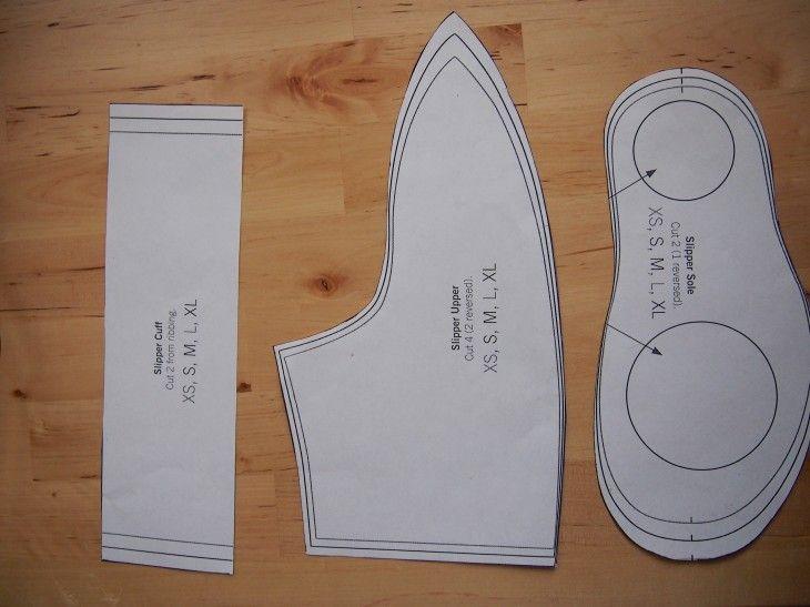 93 best DIY Slipper Patterns images on Pinterest | Footwear, Sewing ...