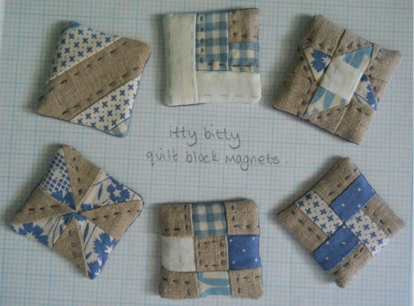 Itty Bitty Quilt Block Magnets from Zakka Style