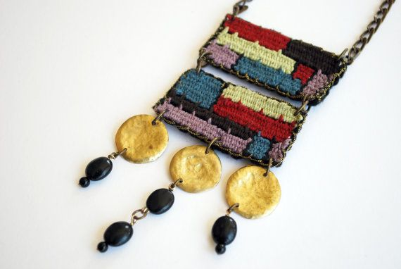 handwoven long necklace/ boho jewelry/ hippie fashion/ bohemian/ ethnic necklace/ greek jewelry/ Made to order