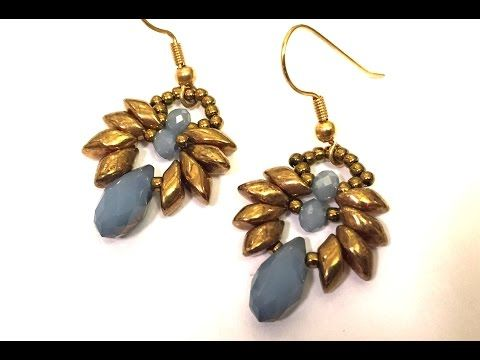 Video Tutorial - DIY - Beaded Earrings with Mags - #Seed #Bead #Tutorials