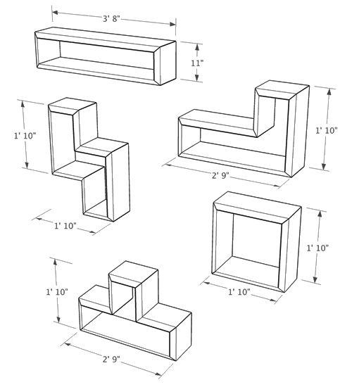 Tetris shelves google search game room pinterest for Tetris bookshelf