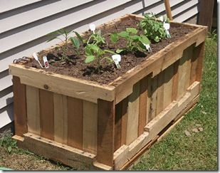 from pallets: Gardens Beds, Gardens Boxes, Pallets Gardens, Pallets Planters, Wooden Pallets, Pallets Furniture, Ships Pallets, Planters Boxes, Pallets Projects