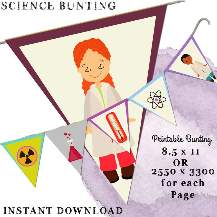 Science Bunting, Science Printable, school Printable, School Bunting, Classroom…