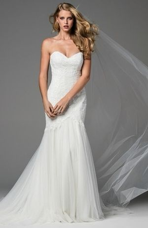 Watters - Strapless Fit and Flare in Lace no one has this dress near me to try on :( I love it