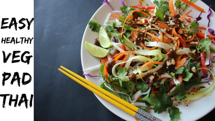 This Healthy Pad Thai Has Half the Calories of the Classic #padthai #recipe #foodbuzz #healthy #food