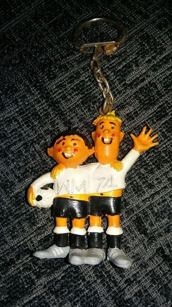 ULTRA RARE Germany 1974 World Cup Football keyring Tip & Tap soccer mascot WM 74  | eBay