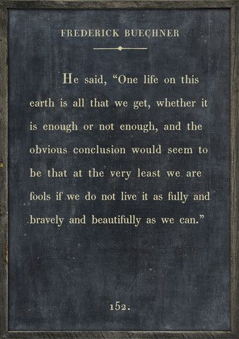 "Frederick Buechner ""One life on this earth is all that we get…"" Book Collection – Sugarboo & Co"
