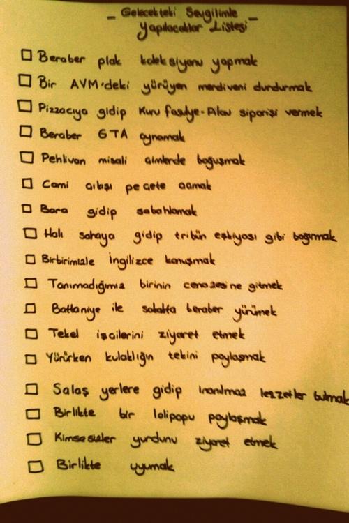 Sevgili ile yapılacaklar listesini sizin için derledik.