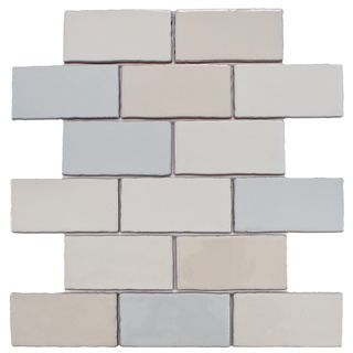 SomerTile 3x6-in Artic Craquelle Mix Cermaic Wall Tile (Case of 16)