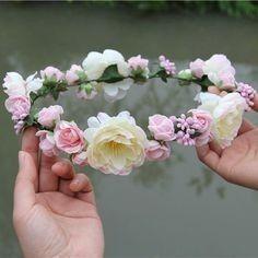 Corona de flores #Pajesitas #Novia
