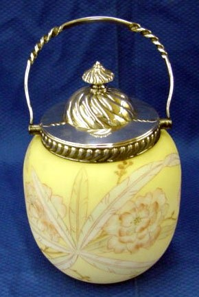 Victorian Case Satin Biscuit Barrel