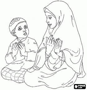 Islamic coloring page