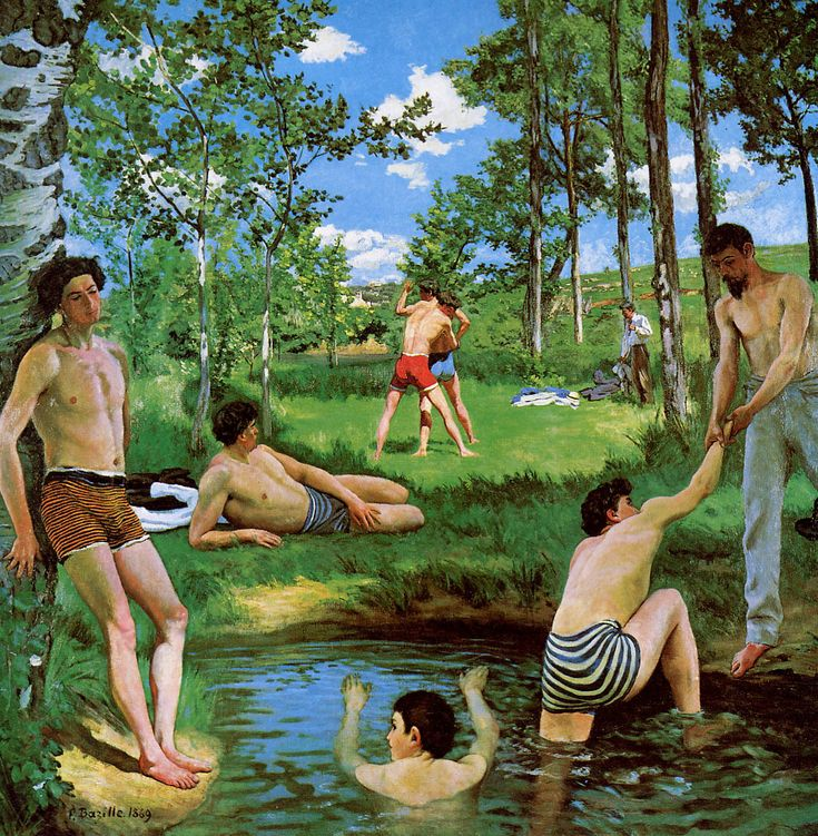 Frederic Bazille — Bathers (Summer Scene), 1869, Frederic...