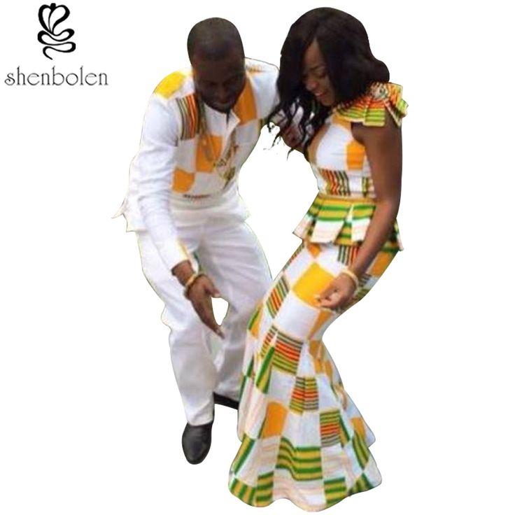 Pria afrika batik pakaian gugatan Lady sexy pendek tanpa lengan pakaian set Wanita Mode pakaian laki-laki kemeja + celana kasual