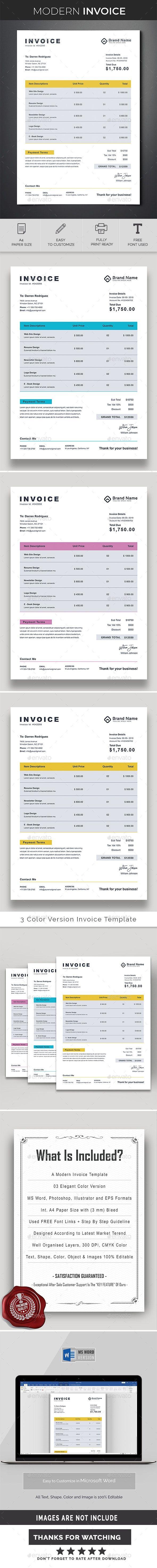 Clean Invoice Invoice Design Invoice Template Change Image