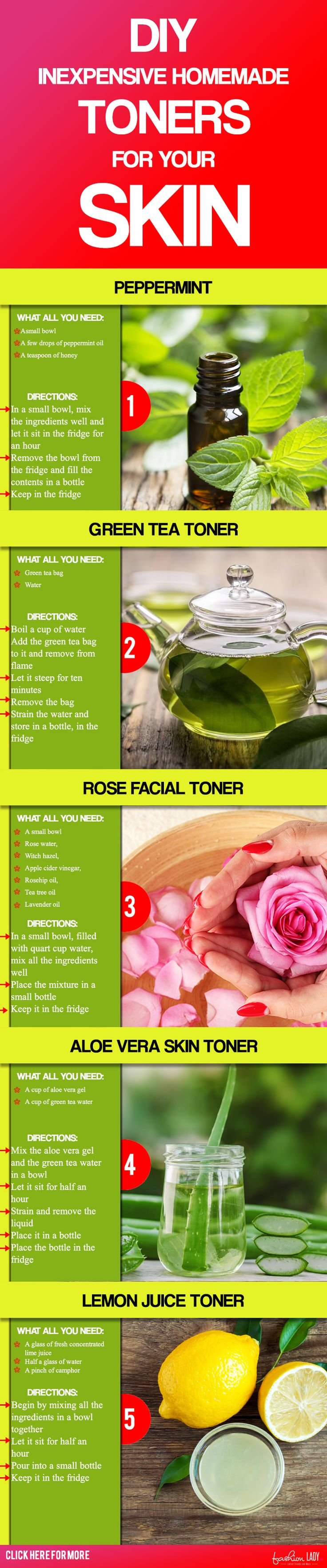 DIY Inexpensive Homemade Toners For Your Skin