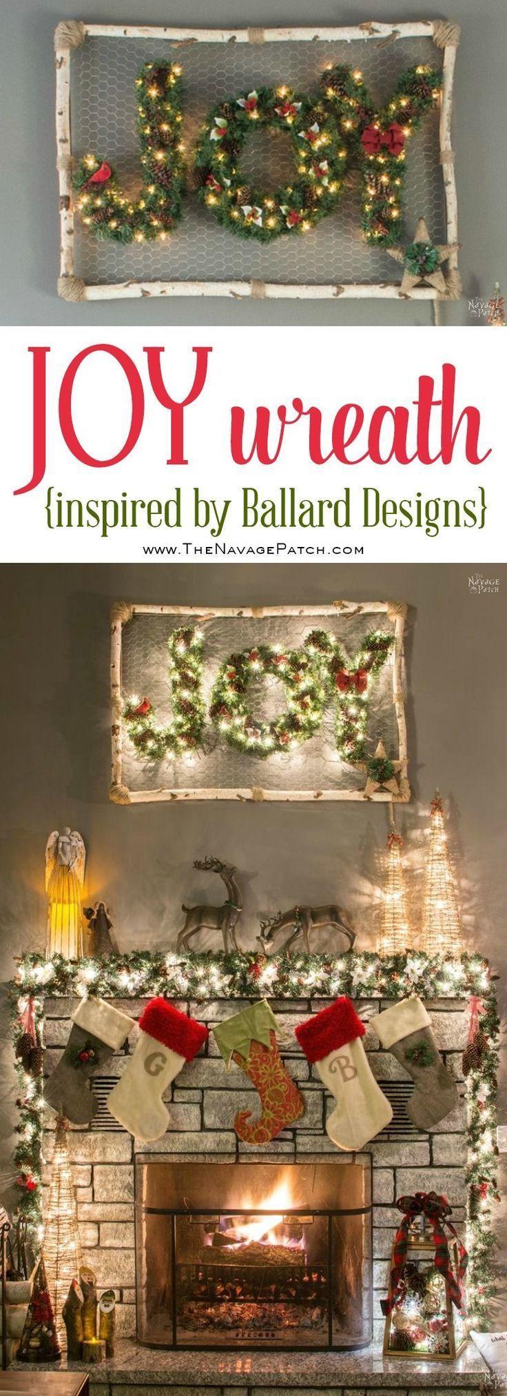 JOY Wreath Inspired By Ballard Designs