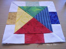 El blog de Dori: Parchís patchwork. Tutorial