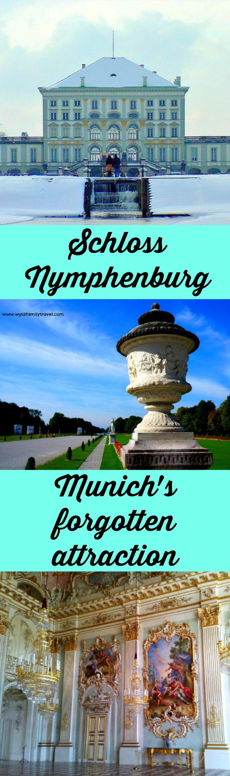 Nymphenburg Palace is located In Munich Germany. I call Nymphenburg the forgotten attraction of Munich. A  beautiful palace located in the outer suburbs.