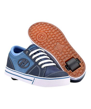 Navy  White Flint Wheeled Sneaker  Boys by Heelys