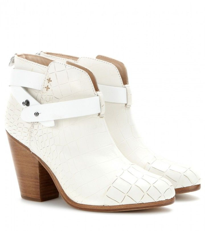 Rag and Bone Harrow croc-effect leather ankle boots on shopstyle.com