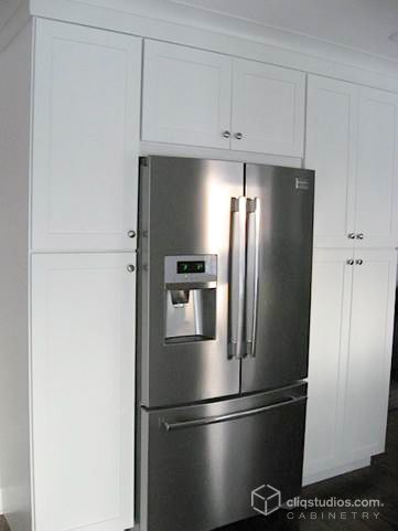 Dayton Painted White Mission Kitchen Cabinets From Cliqstudios Cliqstudios Customer Kitchens