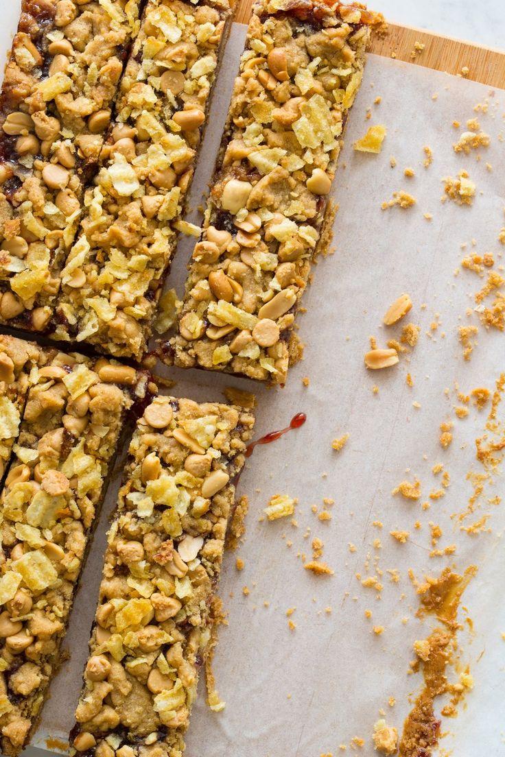 Peanut Butter & Jelly Potato Chip Bars recipe