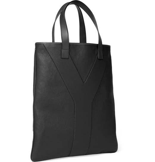 Yves Saint Laurent Mens Coated Canvas Tote Bag 2 | CANTUM ...