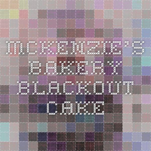 Mckenzie S Bakery Cakes