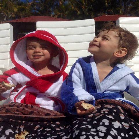 Kids personalised beach robes #personalisedbeachrobes