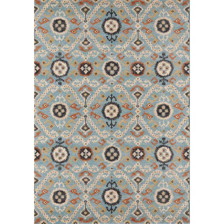 Ковер полипропилен бирюзовый с узорами Capri 32030/5360 #carpet #carpets #rugs #rug #interior #designer #ковер #ковры #дизайн #marqis