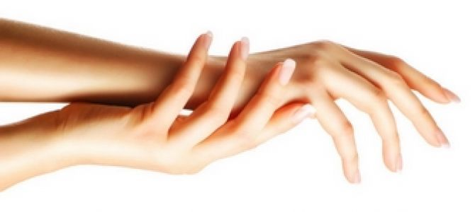 Smoothness And Whiteness Hands