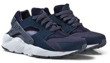 Nike Boys Navy Huarache Junior Run Shoe
