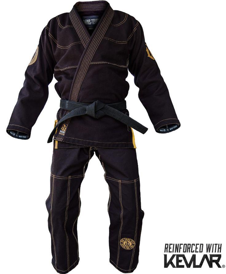 War Tribe Kevlar Reinforced GI Black-Gold Jiu Jitsu Judo Training Competition