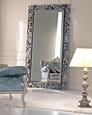 """Напольное зеркало """"Кингстон"""" (bellagio silver)"""