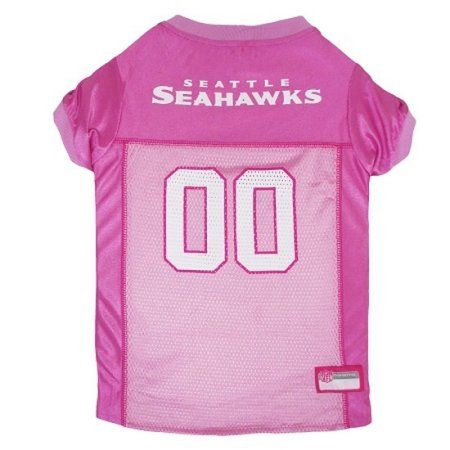 Pets First NFL Seattle Seahawks Pet Pink Jersey, 4 Sizes Available