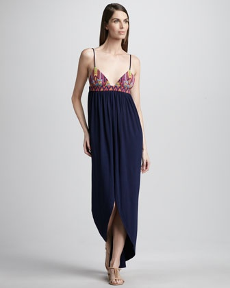 Mara Hoffman Bead-Top Maxi Dress