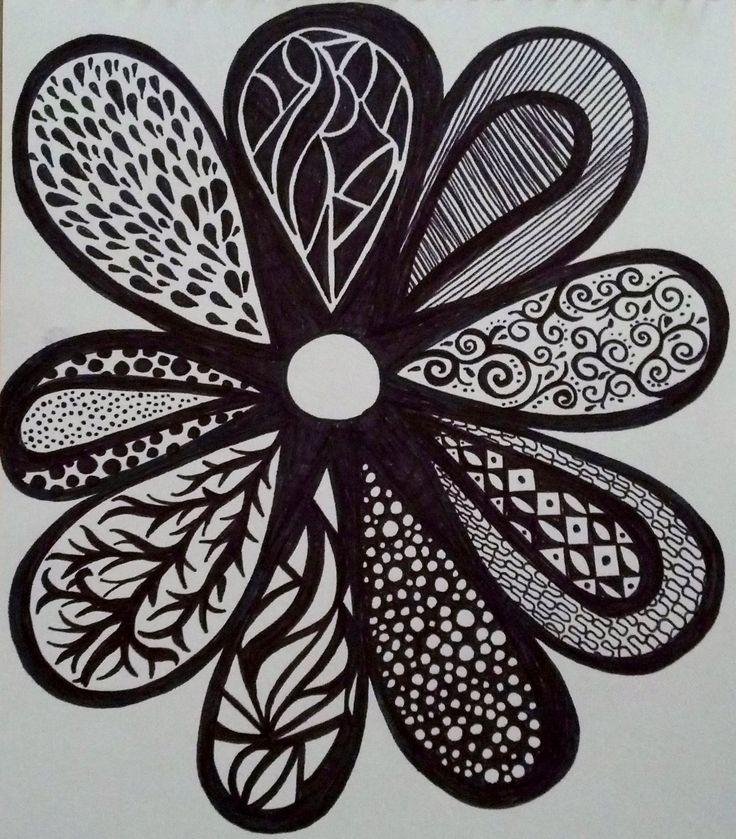 Flower..sharpie - zentangle - SF | My marker art and ... Sharpie Art Flowers