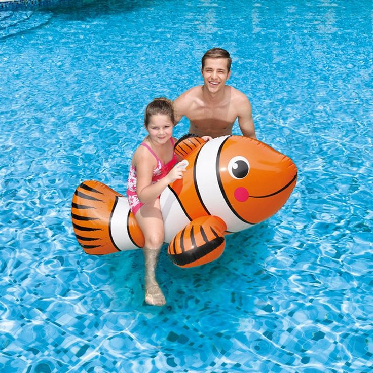 31.41$  Watch now - http://alid6w.shopchina.info/1/go.php?t=32578985245 - Large Inflatable Clown Fish With Handle Inflatable Tropical Fish Ride For Kids Floating Chair Swimming Ring Child Water Toy  #magazineonline