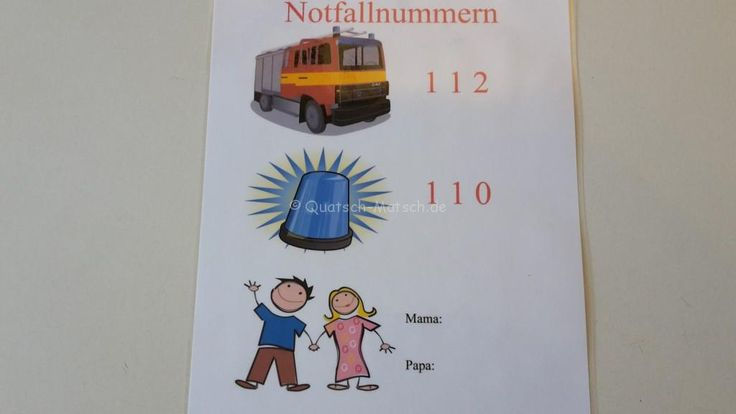 Notfallnummern lernen und anwenden | Quatsch-Matsch.de