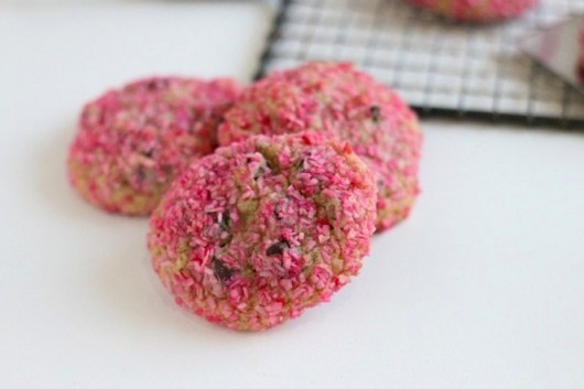 Pink Coconut Chocolate Chip Cookies | Desserts and Sweets | Pinterest