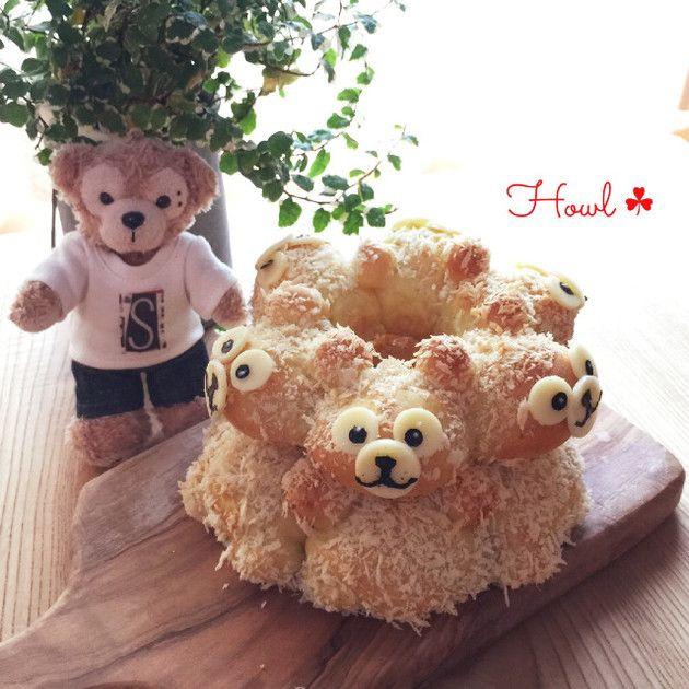 ふわもこ♡ダッフィー風3Dちぎりパン by ハウル♡ [クックパッド] 簡単おいしいみんなのレシピが221万品