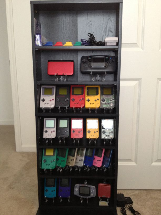 Nintendo Game Boy Collection via Reddit user background_spider
