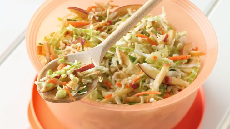 No shredding required! Slaw mix makes it oh-so-simple.