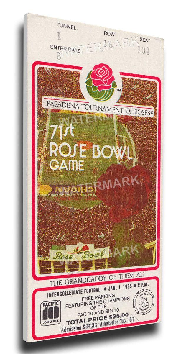 USC Trojans Wall Art - 1985 Rose Bowl Canvas Mega Ticket