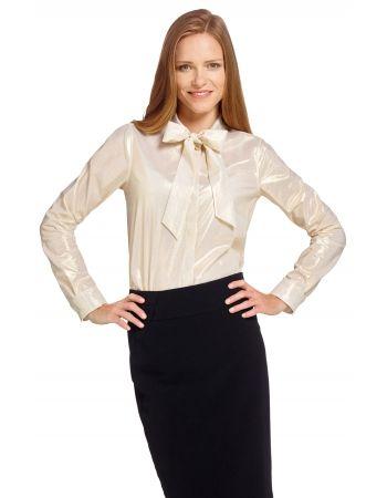 Złota koszula damska Lambert  70501 w sklepie internetowym Wolczanka.pl! Szybka dostawa, wysoka jakość. Koszula damska SashamarkiLambertw delikatne